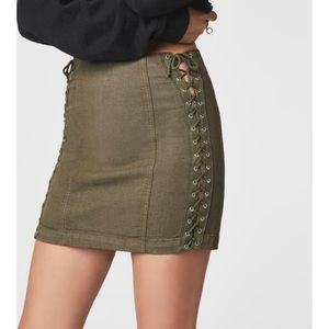 Carmar Lace Up Skirt